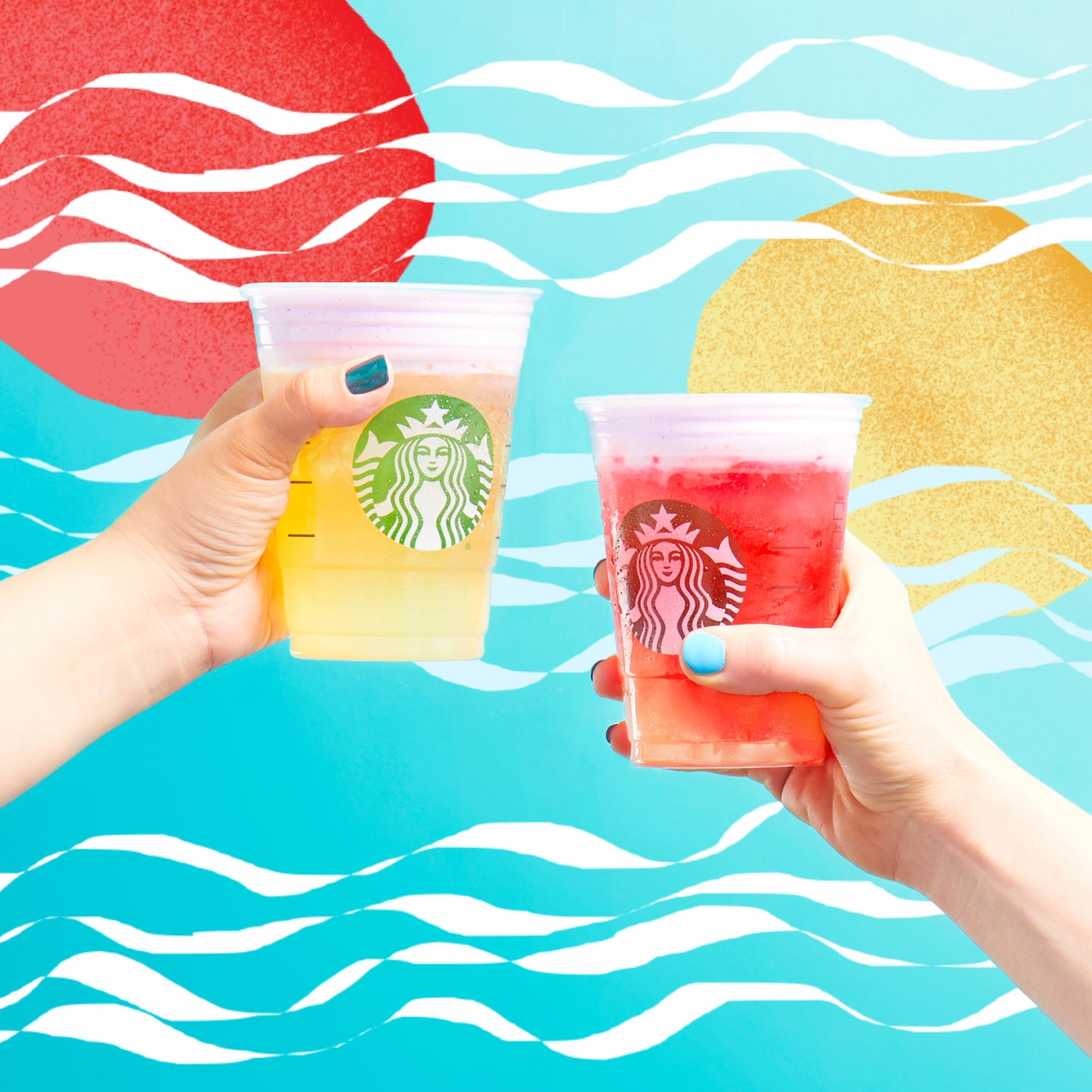 Starbucks Launches New Summer Sunrise And Summer Sunset