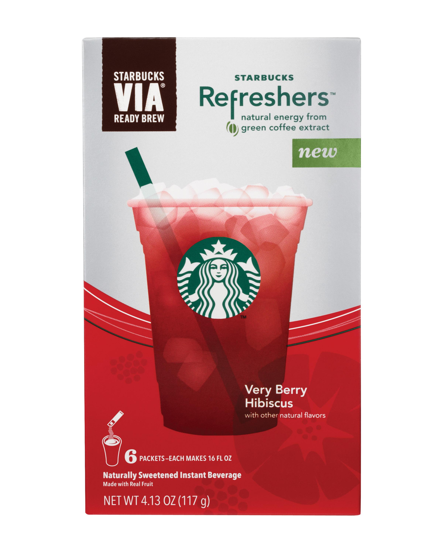 Very Berry Hibiscus Starbucks Via Refreshers Instant Beverage