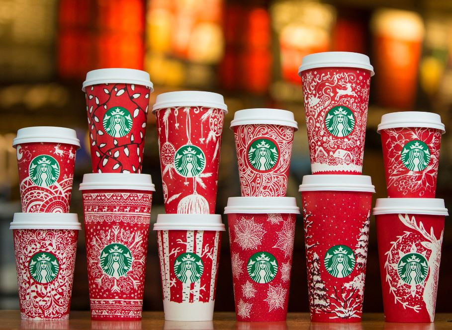 Starbucks Christmas Coffee Cups.Starbucks Unveils 2016 Holiday Red Cups