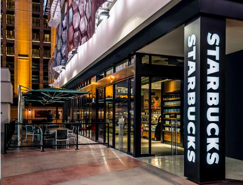 Starbucks Store Offers Front-Row Seat To Las Vegas Strip
