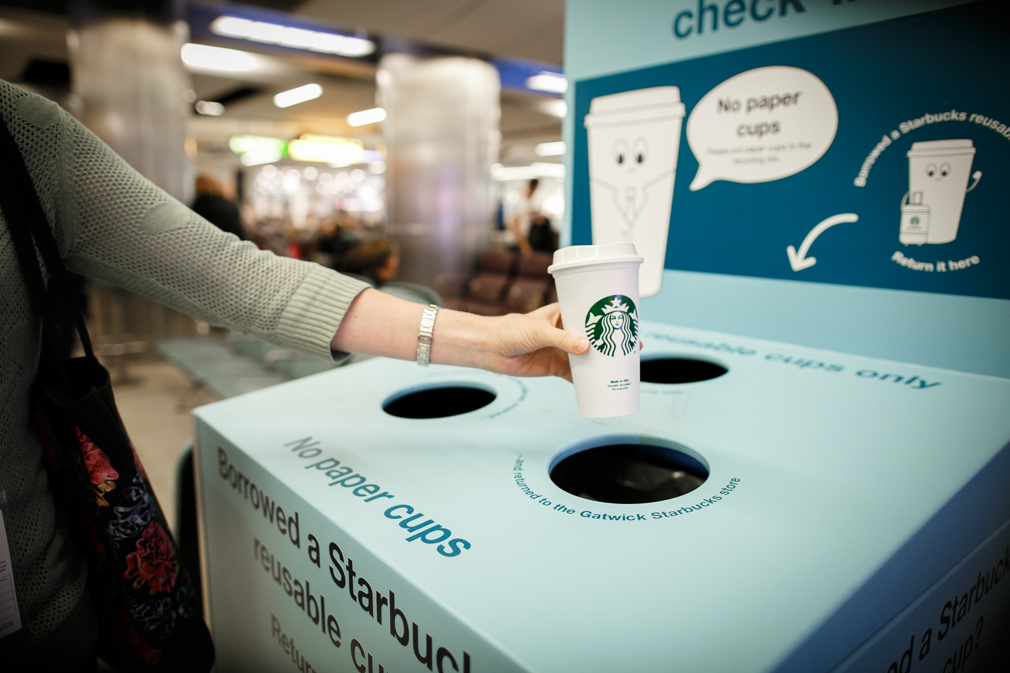 Starbucks UK launches first ever airport reusable cup trial