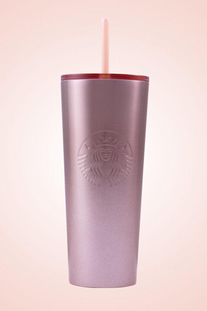 Starbucks Gradient Silver Glitter To Black Stainless Steel Tumbler 12 Oz 2019.