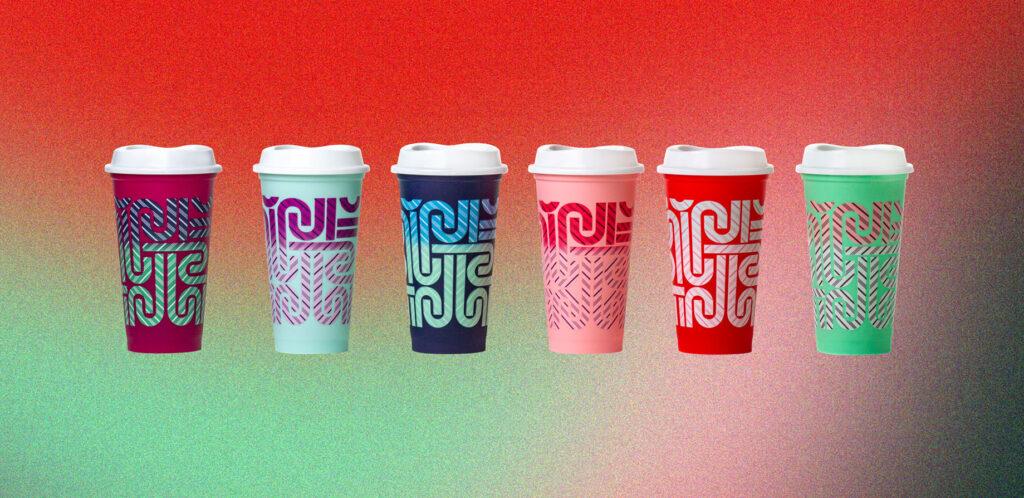Set 5 Cups Starbucks 16 Oz Reusable.Cold Cup Colour-Changing 2020