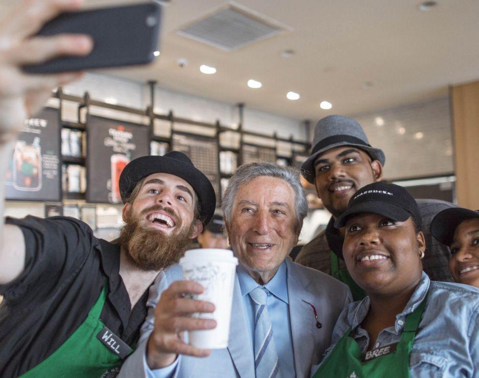 Happy 90th, Tony! Starbucks Celebrates Tony Bennett Day