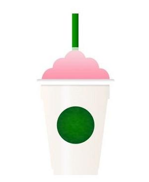 Birthday Cake Frappuccino Emoji