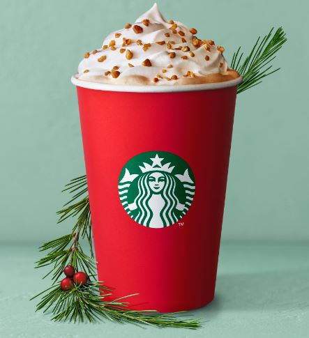 Toffee nut crunch latte