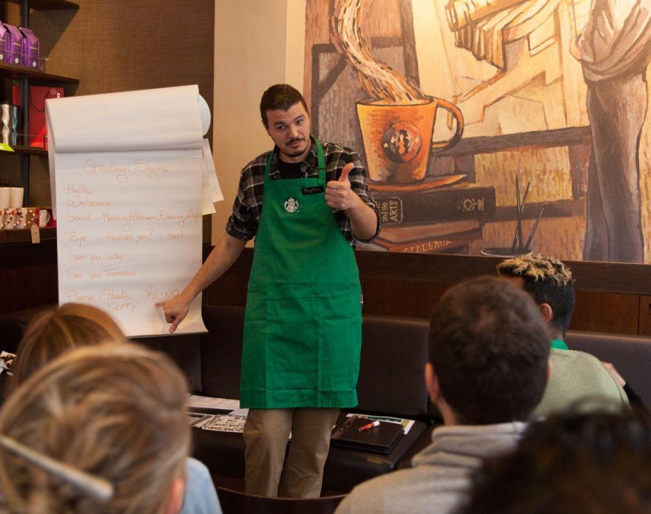 Starbucks We Sign Café Raises Deaf Culture Awareness