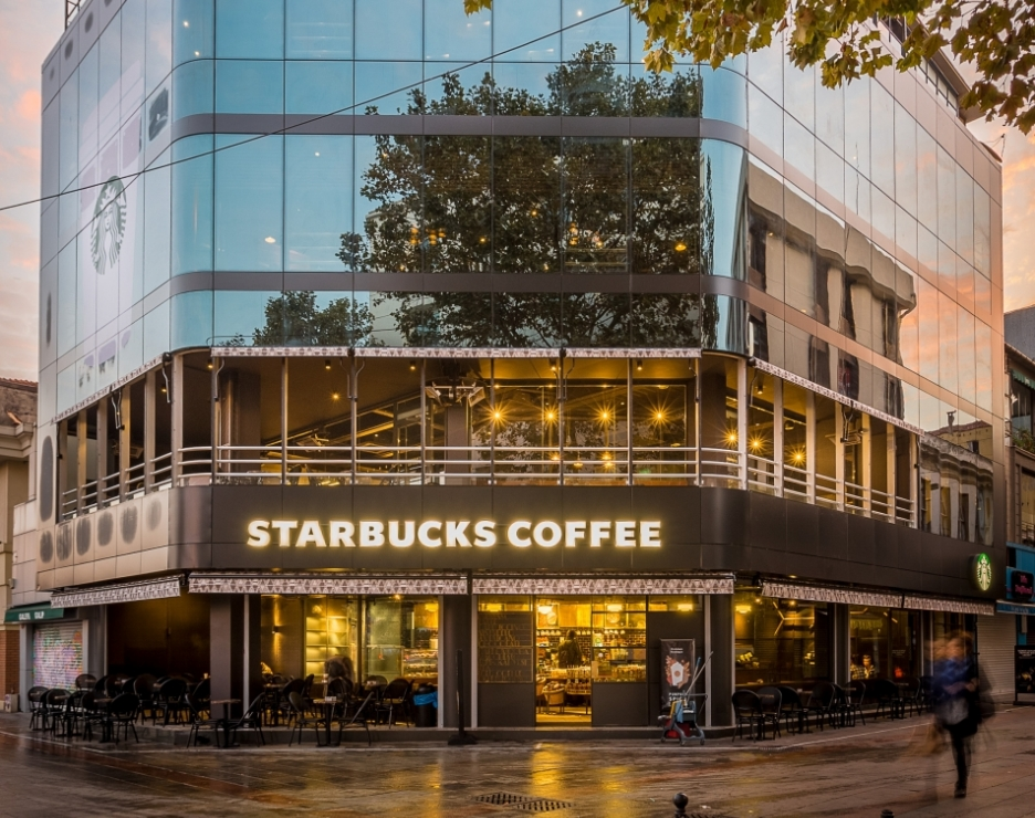 Istanbul Starbucks Store Offers A Caf 233 With A View