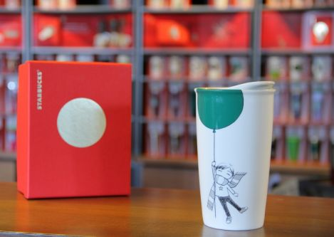 Green Mug Starbucks A 'boy Balloon' Inspiration From The Behind With dxBrCoeW